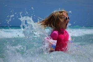 summer mood girl in sea