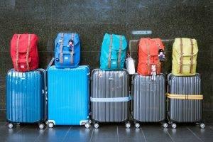 summer travel luggage