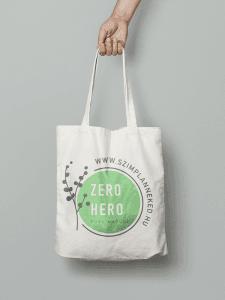 Zero Hero vászontáska 100%pamutból