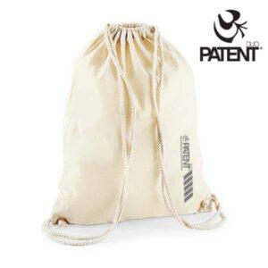 Patentduo natúr vászon hátizsák gymbag