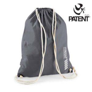 Patentduo szürke vászon hátizsák gymbag