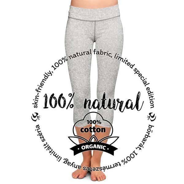 ea88613cb0 Női, ökopamut sport/jóga nadrág - capri - világosszürke - PATENT DUO