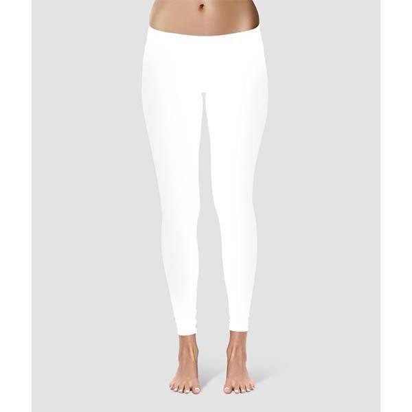 9bf72f2de0 Női, ökopamut sport/jóga nadrág - hosszú - fehér - PATENT DUO