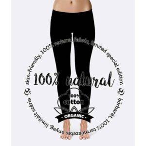 Patentduo fekete pamut leggings sportmelltartó szett