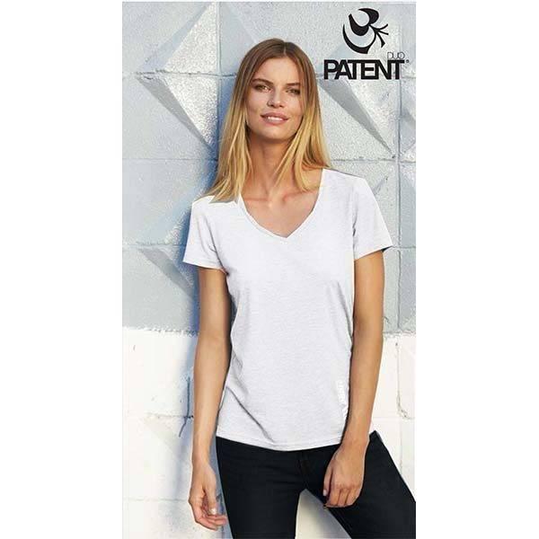 7a60c8ced6 Ökopamut jóga póló - Egyszínű fehér - PATENT DUO