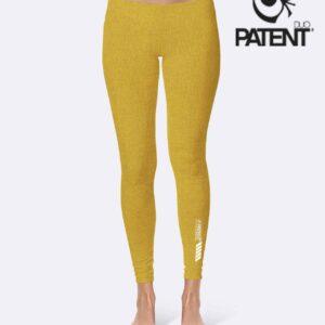 Patentduo napsárga pamut leggings sportmelltartó szett