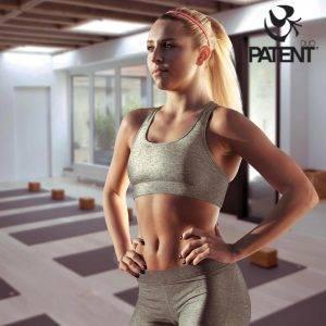 Patentduo világosszürke pamut leggings sportmelltartó szett
