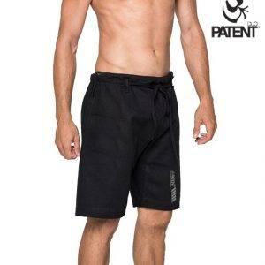 Patentduo fekete férfi pamut rövidnadrág