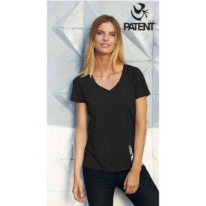 Patentduo 100% pamut rövidujju sport fekete póló