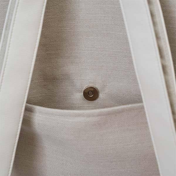 Delka bag elől cipzáros fehér színű hátizsák