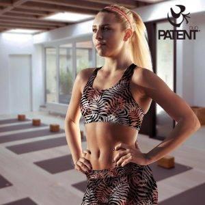 Patentduo tropic mintás technikai leggings sportmelltartó szett