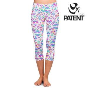 Patentduo Geo mintás technikai capri leggings sportmelltartó szett