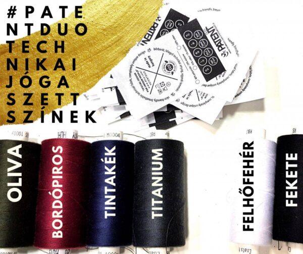 Patentduo egyszínű technikai sport jóga leggings