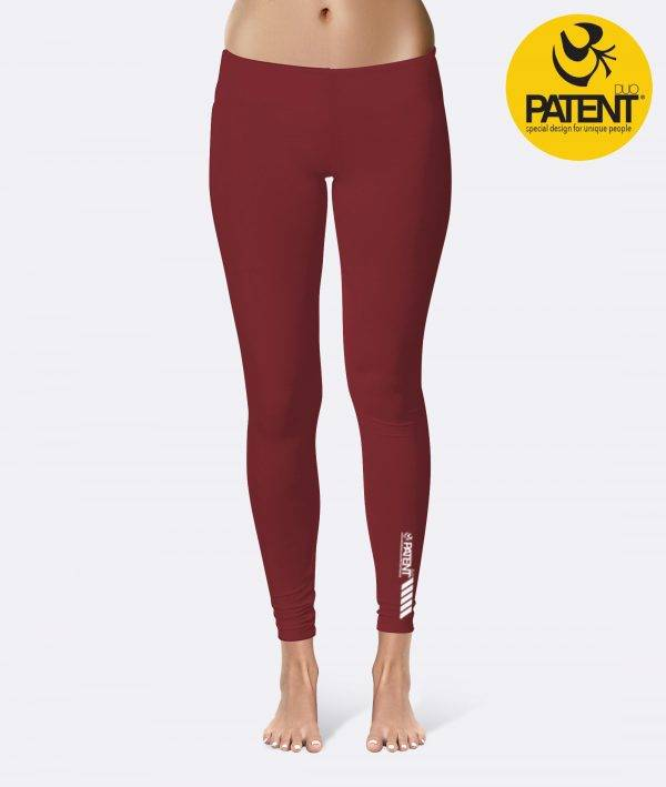Patentduo egyszínű bordó technikai sport jóga leggings