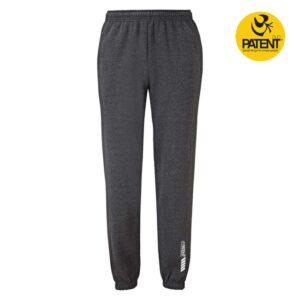 Patentduo sötétszürke férfi sport jóga pamut nadrág