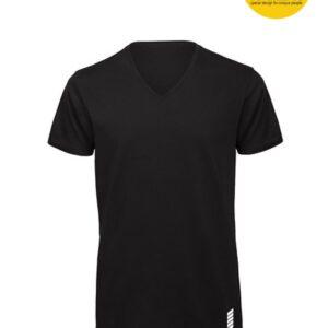 Patentduo fekete színű férfi sport jóga pamut rövidujjú póló
