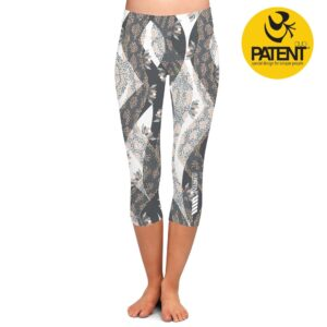 Patentduo shiva mintás capri sport jóga leggings nadrág