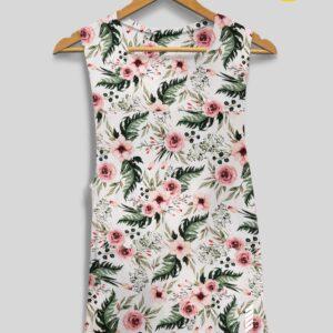 Patentduo sport jóga oldalt kivágott trikó spring blossom