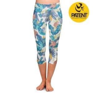 PatentDuo wild spirit tigris minta capri sport jóga leggings nadrág
