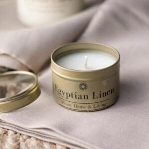 Egyiptian Linen szójagyertya - Peony Home and Living