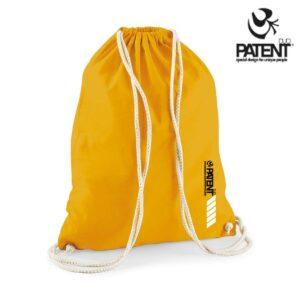 Patentduo napsárga vászon jóga hátizsák gymbag