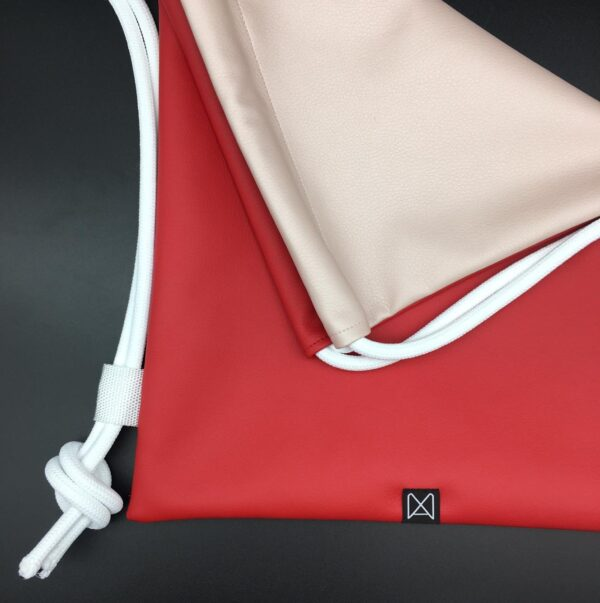 Manualbags pink red biside textilbőr gymbag